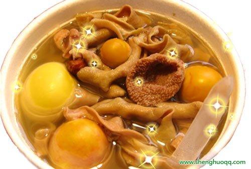 鸡内金煲猪骨汤