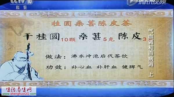 桂圆桑葚陈皮茶