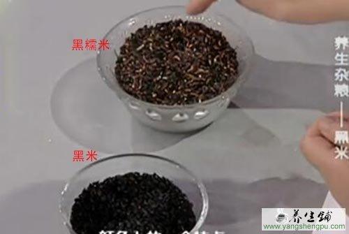 黑米与黑糯米