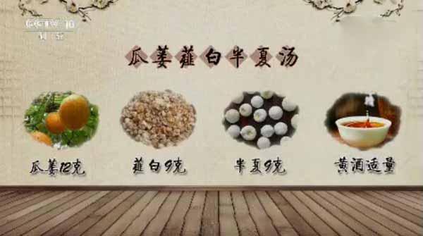 瓜蒌薤白半夏汤